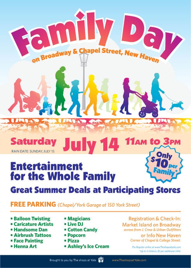 Family Day Flyer The Shops At Yale